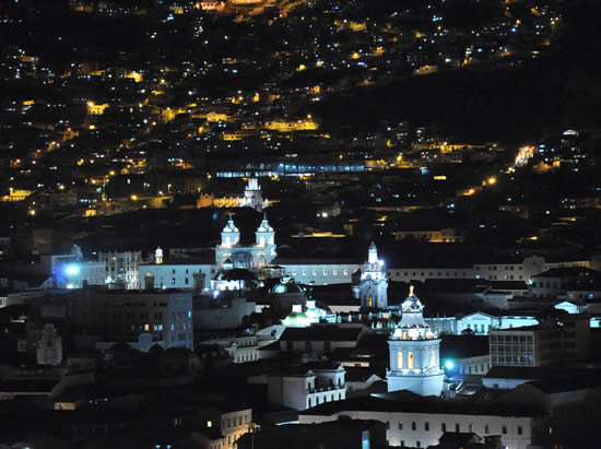 Quito by night tour